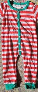 Christmas striped pajamas